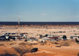 Tshabong, the urban center of Botswana's part of the Kalahari desert
