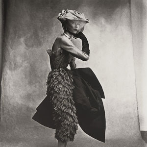 Irving Penn photo of his wife Lisa Fonssagrives in a Balenciaga taken for Vogue 1950. Courtesy National Gallery of Art