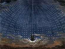 "An 1815 set for ""The Magic Flute,"" by Karl Friedrich Schinkel"
