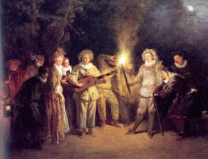 "Watteau's ""Love in the Italian Theatre"" -- the kind of thing Josh Silver adores."