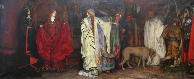 "Edwin Austin Abbey's ""Cordelia's Farewell"" -- key scene in the first act of ""King Lear."""