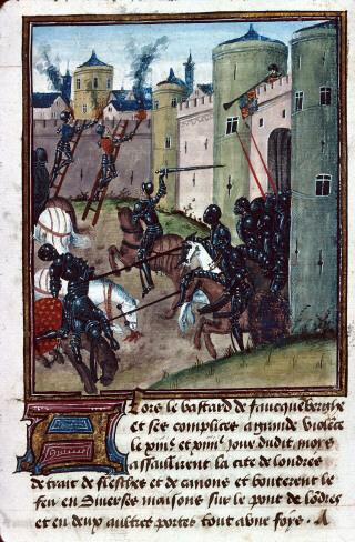 London under siege around 1471. Inspiration for GoT?