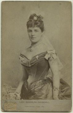 Jennie Jerome, Lady Randolph Churchill, the prototypical American heiress in England, mother of Winston Churchill.