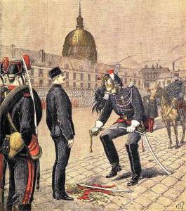 Dreyfus' degradation, from a contemporary newspaper illustration.