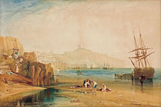 "J.M.W. Turner, ""Scarborough Town and Castle"" -- relevant to ""The Risk of Darkness,"" but much more cheerful"