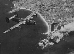 US 8th Air Force bombing St. Malo in August 1944