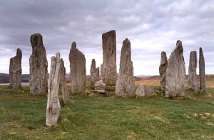 Standing Stones of Callanish. A stone like one of these launches Claire back in time.